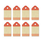 Fancy Pants Designs - Burlap and Bouquets Collection - Party Kit Tags - Polka Dot
