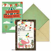 Fancy Pants Designs - Everyday Circus Collection - Invitations with Envelopes