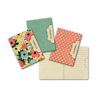 Fancy Pants Designs - Burlap and Bouquets Collection - Mini Journal - 3 Pack