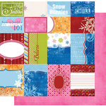Fancy Pants Designs - Frosted Collection - Christmas - 12 x 12 Double Sided Paper - Frosted Cards, CLEARANCE