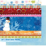 Fancy Pants Designs - Frosted Collection - Christmas - 12 x 12 Double Sided Paper - Frosted Strips