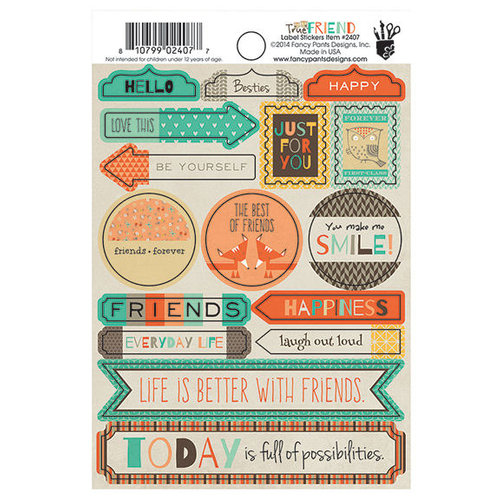 fancy pants designs true friend labels stickers