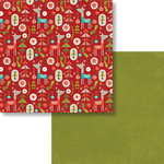 Fancy Pants Designs - Oh, Deer Collection - Christmas - 12 x 12 Double Sided Paper - Santa's Team