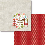 Fancy Pants Designs - Oh, Deer Collection - Christmas - 12 x 12 Double Sided Paper - Season's Greetings