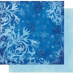 Fancy Pants Designs - Frosted Collection - Christmas - 12 x 12 Double Sided Paper - Winters Chill , BRAND NEW