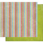 Fancy Pants Designs - Frosted Collection - Christmas - 12 x 12 Double Sided Paper - Striped Scarf