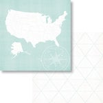 Fancy Pants Designs - Office Suite Collection - 12 x 12 Double Sided Paper - Mapped Out