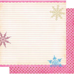 Fancy Pants Designs - Frosted Collection - Christmas - 12 x 12 Double Sided Paper - Snow Notes