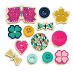 Fancy Pants Designs - Flutter Collection - Button Mix
