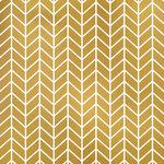 Fancy Pants Designs - Flutter Collection - 12 x 12 Paper with Foil Accents - Gold Arrows