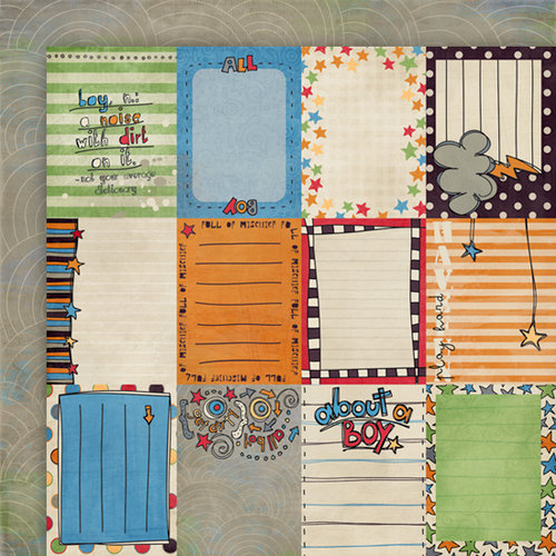 Fancy Pants Designs - Rough and Tough Collection - 12 x 12 Double Sided Paper - Rough and Tough Cards