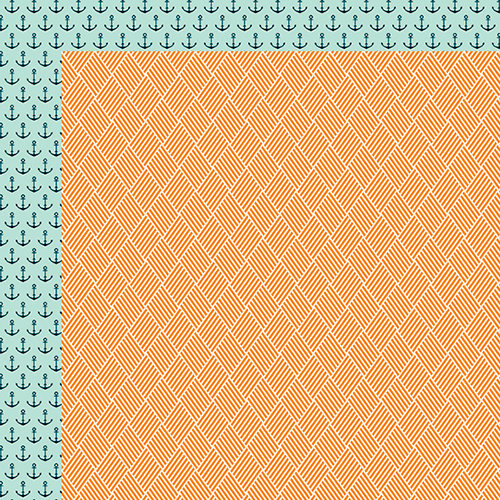 Fancy Pants Designs - Making Waves Collection - 12 x 12 Double Sided Paper - Blazing