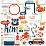 Fancy Pants Designs - Making Waves Collection - Ephemera Pack