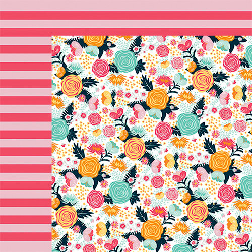 Fancy Pants Designs - Summer Sun Collection - 12 x 12 Double Sided Paper - Summer Floral