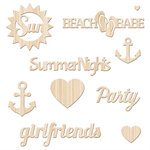 Fancy Pants Designs - Summer Sun Collection - Wood Veneer Pieces