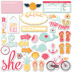 Fancy Pants Designs - Summer Sun Collection - Ephemera Pack