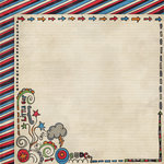 Fancy Pants Designs - Rough and Tough Collection - 12 x 12 Double Sided Paper - Oh Boy