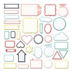 Fancy Pants Designs - Happy Place Collection - Labels Pack
