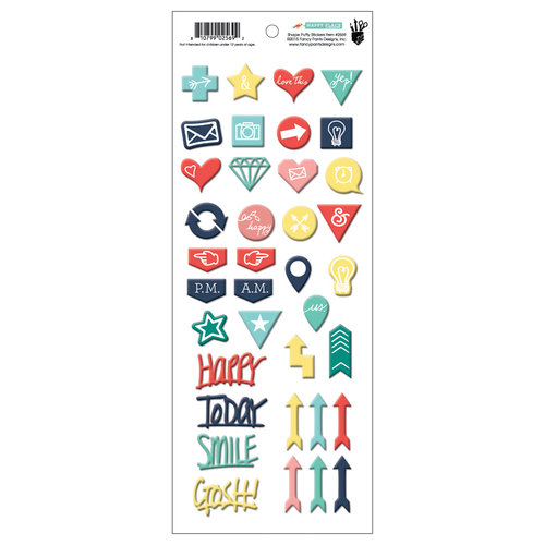 Fancy Pants Designs - Happy Place Collection - Puffy Stickers - Mixed Shapes