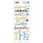 Fancy Pants Designs - Happy Place Collection - Puffy Stickers - Script Words