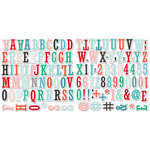 Fancy Pants Designs - Wish Season Collection - Christmas - Alphabet and Number Pack