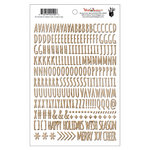 Fancy Pants Designs - Wish Season Collection - Christmas - Puffy Stickers - Alphabet - Woodgrain