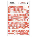 Fancy Pants Designs - Wish Season Collection - Christmas - Puffy Stickers - Alphabet - Red