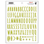Fancy Pants Designs - Attwell Collection - Puffy Stickers - Alphabet - Green