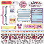 Fancy Pants Designs - Dancing Girl Collection - 12 x 12 Cardstock Stickers, CLEARANCE