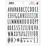 Fancy Pants Designs - Attwell Collection - Puffy Stickers - Alphabet - Striped