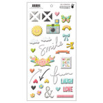 Fancy Pants Designs - Life Is Beautiful Collection - Puffy Stickers - Design