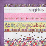 Fancy Pants Designs - Dancing Girl Collection - 12 x 12 Double Sided Paper - Dancing Girl Strips