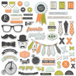Fancy Pants Designs - Good Fellows Collection - Ephemera Pack