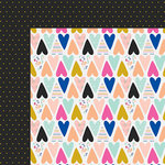 Fancy Pants Designs - Millie and June Collection - 12 x 12 Double Sided Paper - Much Love