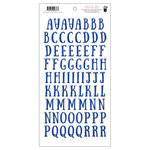 Fancy Pants Designs - Millie and June Collection - Puffy Stickers - Alphabet - Royal Blue