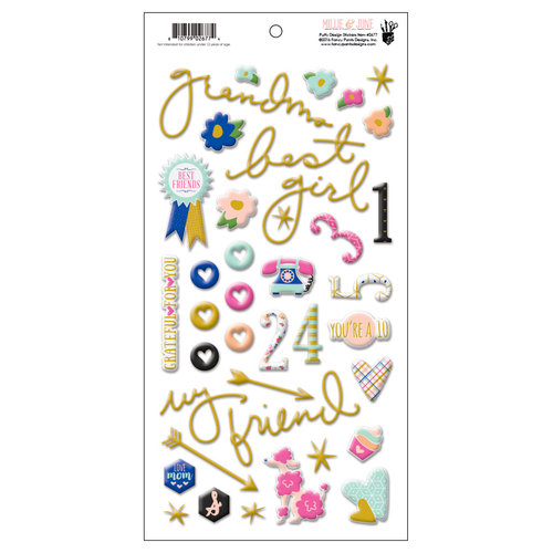 Fancy Pants Designs - Millie and June Collection - Puffy Stickers - Design