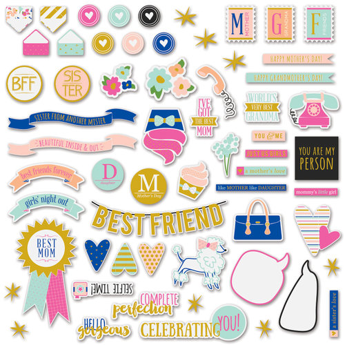 Fancy Pants Designs - Millie and June Collection - Ephemera Pack