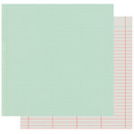 Fancy Pants Designs - Golden Days Collection - 12 x 12 Double Sided Paper - Teal Dot