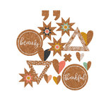 Fancy Pants Designs - Golden Days Collection - Cork Pieces