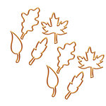 Fancy Pants Designs - Golden Days Collection - Paper Clips - Leaf