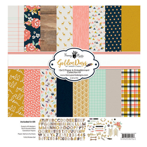 Fancy Pants Designs - Golden Days Collection - 12 x 12 Collection Kit