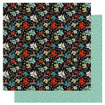 Fancy Pants Designs - Merry and Bright Collection - Christmas - 12 x 12 Double Sided Paper - Dancing Reindeer