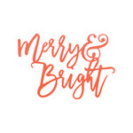 Fancy Pants Designs - Merry and Bright Collection - Christmas - Acrylic Title - Merry and Bright