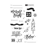 Fancy Pants Designs - Merry and Bright Collection - Christmas - Clear Acrylic Stamps