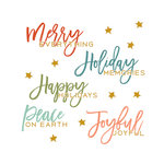 Fancy Pants Designs - Merry and Bright Collection - Christmas - Rub Ons - Phrases