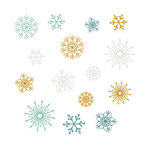 Fancy Pants Designs - Merry and Bright Collection - Christmas - Rub Ons - Snowflakes