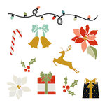 Fancy Pants Designs - Merry and Bright Collection - Christmas - Rub Ons