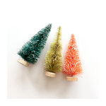 Fancy Pants Designs - Merry and Bright Collection - Christmas - Bottle Brush Trees - 4 Inches