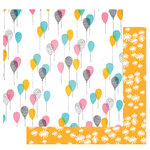 Fancy Pants Designs - Joy Parade Collection - 12 x 12 Double Sided Paper - Lighter Than Air