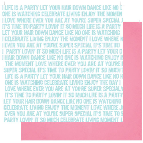 Fancy Pants Designs - Joy Parade Collection - 12 x 12 Double Sided Paper - Life is a Party
